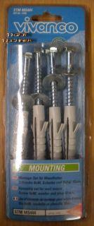 VIVANCO Sat Montage-Set für Wandhalter Schraube 8x80 Scheibe & Dübel 10mm *so22