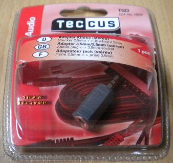 Teccus by Vivanco Audio Klinke Adapter 3,5 mm Buchse 2,5 mm Stecker stereo* so55