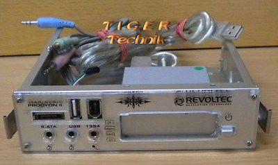 Revoltec Star Serie Procyon 2 * Frontpanel Panel Kartenlesegerät * USB Firewire pz05