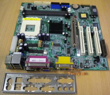 Biostar M7VIQ V1.2 Mainboard + Blende Sockel A 462 FSB266 VGA Sound LAN AGP*m118
