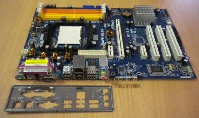 ASRock NF6-GLAN Rev.1.02 Mainboard + Blende Sockel AM2 AM2+ SATA2 GB-LAN *m125