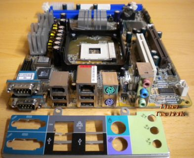 Shuttle XPC SB75G2- FB75-D33032 Intel Socket PGA478B Mainboard+Blende* m163