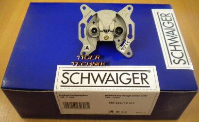 15x Schwaiger Breitband Durchgangsdose Unterputz 19 dB RDS 646-19 511 *so223