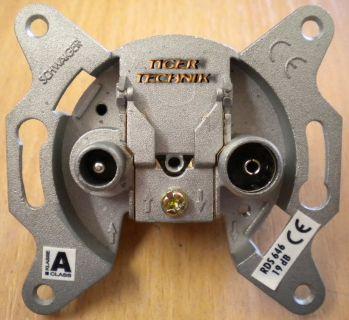 Schwaiger Breitband Antenne Dose Durchgangsdose Unterputz 19 dB RDS 646* so222