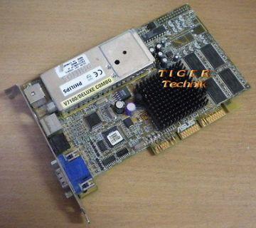 Asus V7100/Deluxe Combo GeForce2 MX Grafikkarte AGP 4x 32MB AV-IN VGA g26