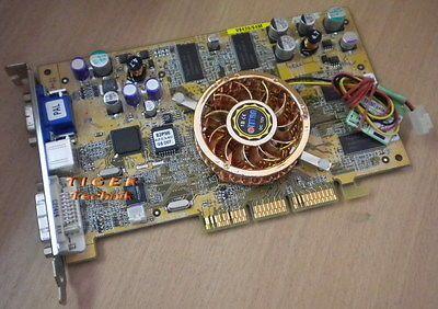 Asus V9280/64M Nvidia Geforce 4 Ti4200 64MB AGP 8x mit Titan 3-pol Lüfter g07