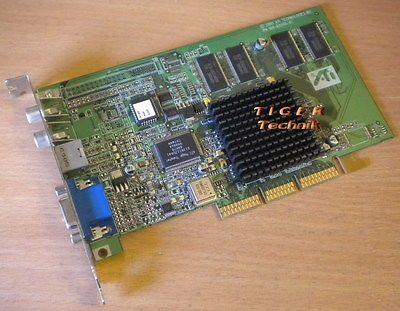ATI Rage128 Pro Grafikkarte AGP4x 32MB PN109-63200-01 VGA TVOut RCA IN Out g35