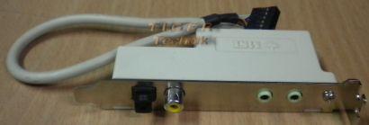 MSI Audio Video Slotblende Bracket Panel SPDIF Cinch 2x 3,5mm RR RL Klinke* pz51