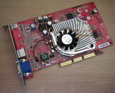 MSI MS-8867 VTP GeForce4 MX460 Grafikkarte AGP4x 64MB VGA TV-Out g33