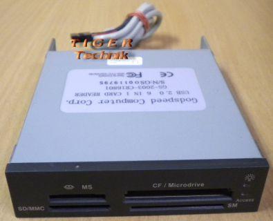 Godspeed Computer USB 2.0 GS-2003-CR16801 6in1 Kartenlesegerät schwarz* kl04