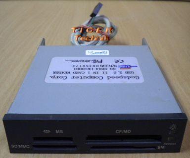 Godspeed Computer USB 2.0 GS-2004-CR18801 11in1 Kartenlesegerät schwarz* kl01