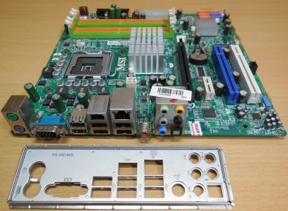MSI MS-7502 Ver 1.2 Medion MD8828 Mainboard +Blende Sockel 775 Intel G33* m176
