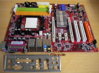 MSI K9N SLI MS-7250 Ver2.0 Mainboard +Blende Sockel AM2 DDR2 PCIe Dual LAN* m185