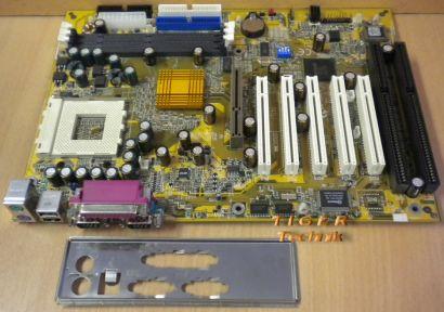 Gigabyte GA-7IXE4 Rev 1.0 Mainboard +Blende Sockel 462 2x ISA AGP PCI* m192