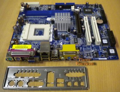 ASRock K7S41GX Rev. G/A 1.04 Mainboard So. 462 AGP x8 PCI AMR + Blende* m268