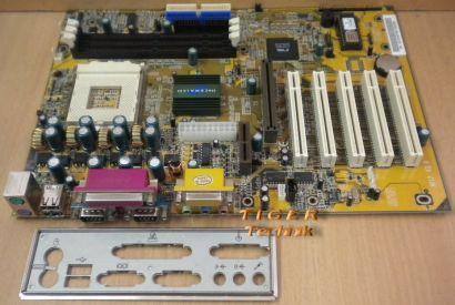 Shuttle AK12 Ver. 3.0 Mainboard Sockel 462 2x Seriell AGP PCI AMR + Blende* m243