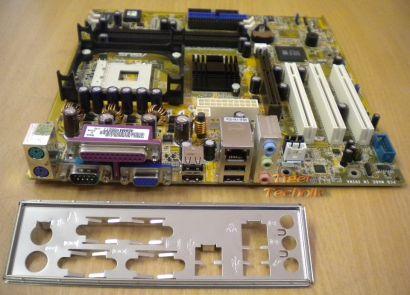 Asus P4S800-MX Rev. 2.01 Mainboard Sockel 478 AGP x8 PCI + Blende* m249