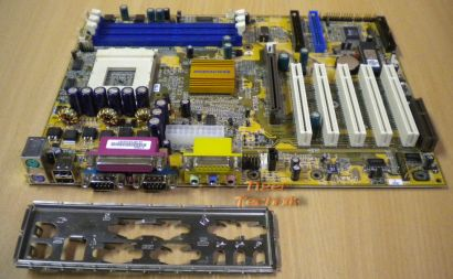 ECS Elitegroup K7S6A Rev. 1.0 Mainboard Sockel 462 AGP PCI CNR + Blende* m264