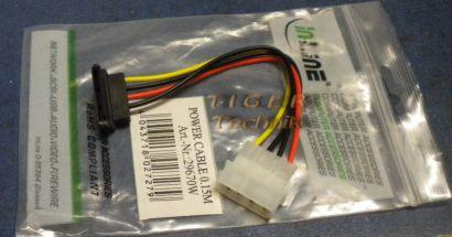 InLine SATA Stromadapterkabel 4pol - SATA gewinkelt 15cm art29670W* pz704