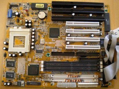 Gigabyte GA-586TX3 + 2 Slot-Blenden Sockel 7 ISA PCI  EDO oder SD-RAM* m309