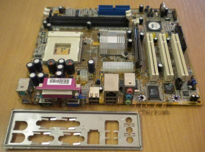DFI KM400-MLV,MLVE Rev. B Mainboard Sockel 462 AGP PCI VGA LAN + Blende* m333