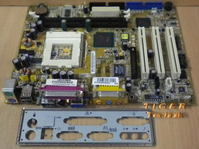 Asus CUW-AM Rev. 1.02 Mainboard Sockel 370 VGA Parallel Seriell + Blende* m337