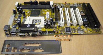 DTK PRM-89I Mainboard Sockel 370 AGP PCI ISA Parallel 2x Seriell + Blende* m342