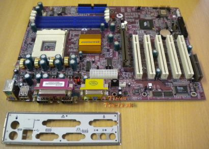 Elitegroup K7VTA3 Rev. 1.0 Mainboard Sockel 462 AGP PCI CNR + Blende* m374