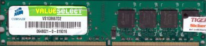 Corsair Value Select VS1GB667D2 PC2-5300 1GB DDR2 667MHz Arbeitsspeicher RAM*r38