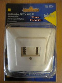 Schwaiger Unterputz Anschlussdose TAE N F 2x6(4) Telefon & Zusatzgerät*so321