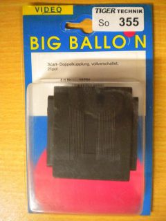 BigBalloon Video 21-pol SCART Doppelkupplung vollverschaltet Buchse Buchse*so355