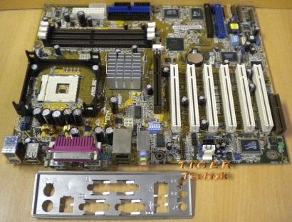 Asus P4B266-E Rev: 1.01 Mainboard Motherboard mit Blende * mit IDE-RAID * m08