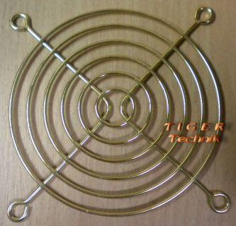 Fan Grill 92mm 92 mm 9cm Lüfter Grill Fan Gitter Gold Lüftergitter*  pz18