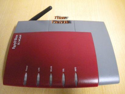 Fritz!Box SL WLAN Router Rot ADSL ADSL2+ 1x LAN-Port 1x USB * nw312