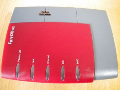 Fritz!Box 2110 Router Rot ADSL ADSL2+ 1-port mit Firewall * nw335