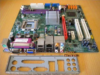 ECS Elitegroup G31T-M2 V1.0 Mainboard +Blende Sockel 775 PCIe x16 SATA DDR2*m457