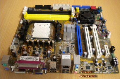 ASUS M2A-VM Rev 1.01G Mainboard Sockel AM2 VGA DVI GbLAN 5.1Audio PCIe x16* m517
