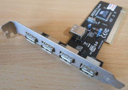 5 Port Hi Speed USB 2.0 4+1 PCI Karte Adapter Card Diverse Hersteller Marke*sk07