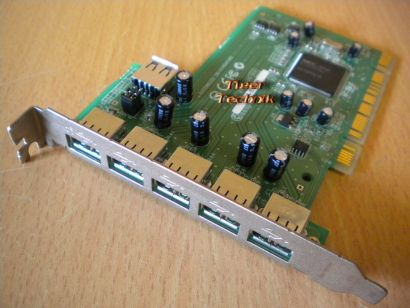 6-Port Hi-Speed USB 2.0 PCI Adapter Card Verschiedene Hersteller Marken* sk09