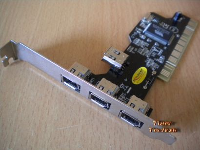 4-Port PCI Adapter Card 4x FireWire IEEE 1394a Versch Hersteller Marken* sk23