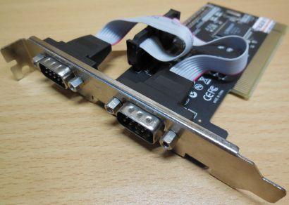 2 Port Dual Serial Karte PCI IP-N04-5220-00-00882 PI2NM9835X2C* sk35
