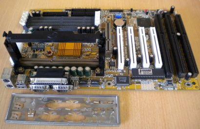 Gigabyte GA-686BX Rev 2.2 Mainboard +Blende 3x ISA Slot 1 Intel 440BX AGP* m578