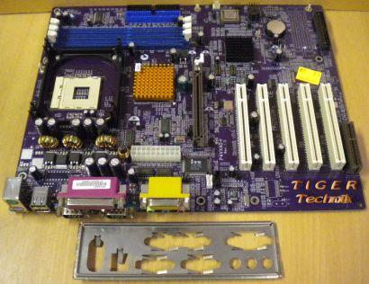 Elitegroup P4VXAD+ Rev: 1.0 Mainboard mit Blende * Sockel 478 FSB533 * m14