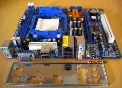 ASRock N68-VS3 UCC Rev1.01 Mainboard +Blende Sockel AM3 PCIe VGA LAN Audio* m622