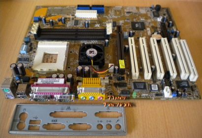 Asus A7V266-E Rev1.07 Mainboard+Blende Sockel A 462 AGP USB DDR 6xPCI Audio*m627