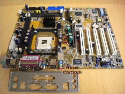 Asus P4T533-C Rev 1.03 Mainboard + Blende Sockel 478 AGP Audio RIMM RAMBUS* m636