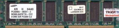Samsung M368L6423FTN-CCC PC3200 CL3 512MB DDR1 400MHz Arbeitsspeicher* r79