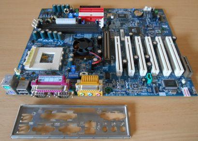 Gigabyte GA-7ZXR Rev3.0BA Mainboard +Blende Sockel A 462 VIA KT133A IDE RAID*m33