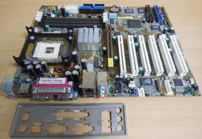 Asus P4B533-E Mainboard + Blende + Zubehör * IDE-RAID bis zu 8x Laufwerke #m45