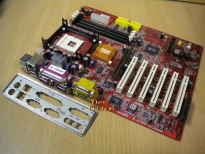 MSI 648 MAX MS-6585F1 Ver: 20A Mainboard + Blende * Sockel 478 FSB533 * m46